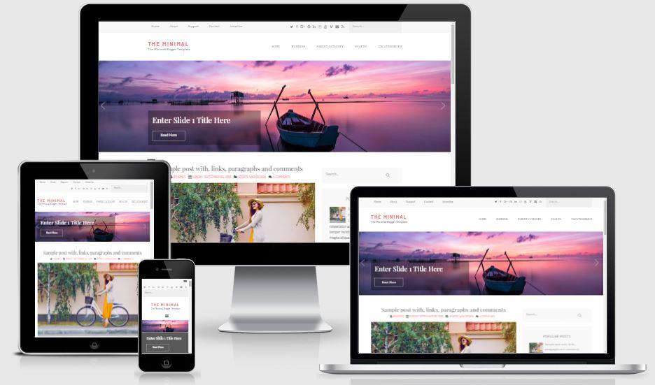 The Minimal Blogger Template - Mẫu template cá nhân đẹp 2019