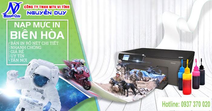 Nạp mực máy in Biên Hòa