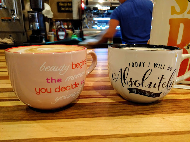 Coffee mugs from Brew D. Licious in St. Petersburg, Florida