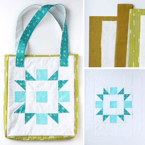 Quilted Tote Bag (From Any Quilt Block) - Tutorial