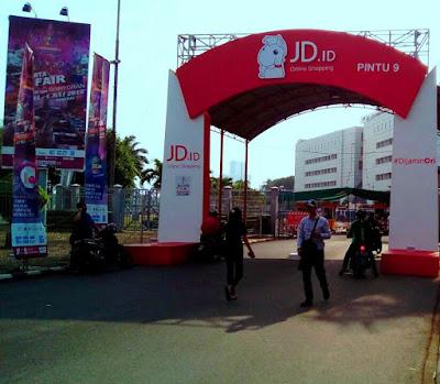 Pintu 9 salah satu area pintu masuk Jakarta Fair