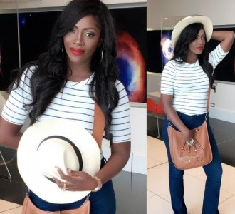 Tiwa Savage Steps Out In Style.