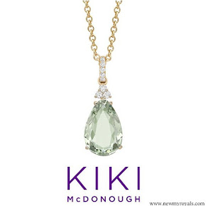 Kate Middleton - Kiki McDonough candy mini green amethyst and diamond pendant