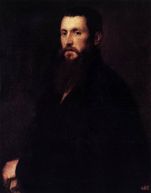 Portrait of Daniele Barbaro by Titian, 1545, Prado