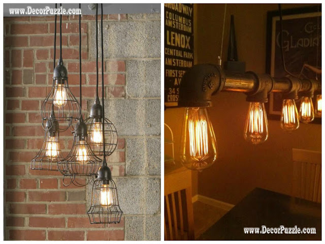 industrial kitchen style, industrial chic decor, industrial lighting