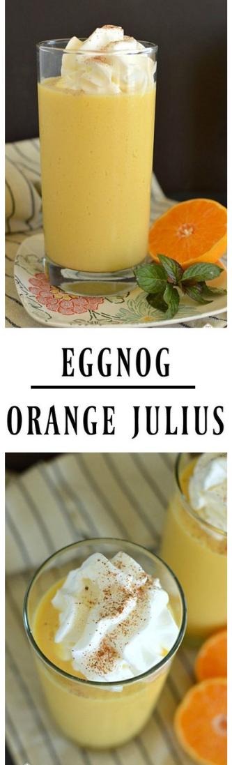 EGGNOG ORANGE JULIUS #orange