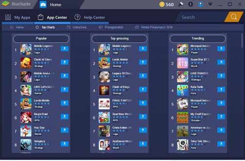 game mobile legend di komputer pc dengan bluestack