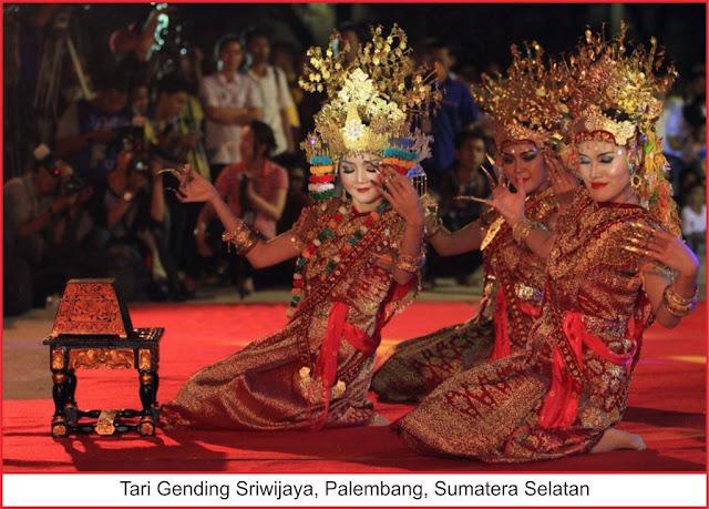 gambar tari gending sriwijaya palembang sumatera selatan
