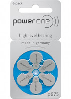 Hearing Aid Batteries Power One P675