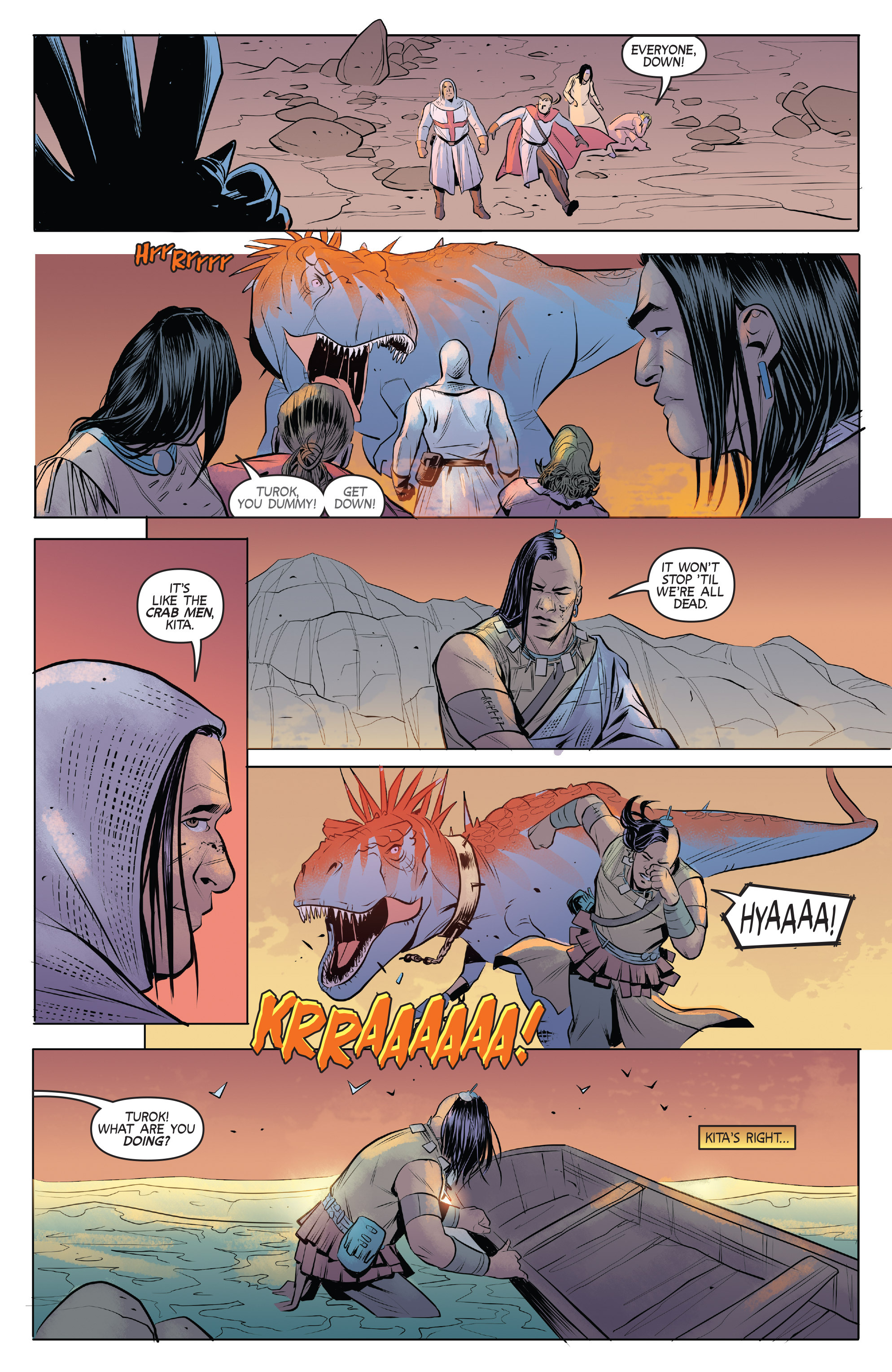 Read online Turok: Dinosaur Hunter (2014) comic -  Issue # _TPB 1 - 91
