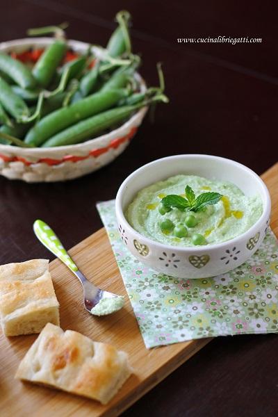 dip piselli ricotta ricetta vegetariana