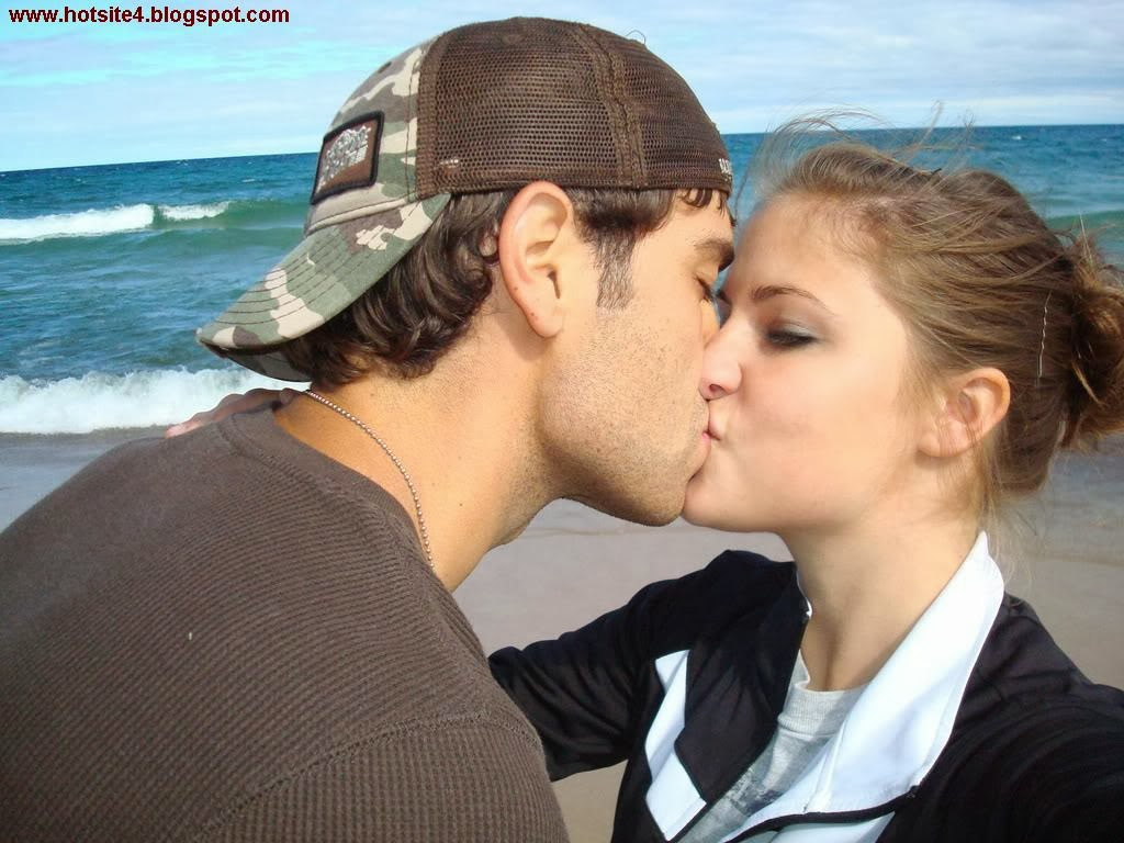 Boy And Girl Hot Lip Kiss Photo