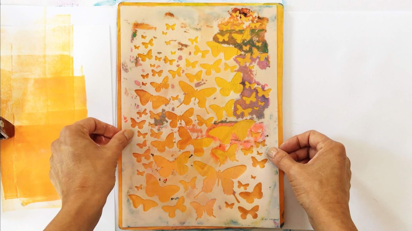 Printing with Gelli Arts®: Color in Color - Stencil Fun with
