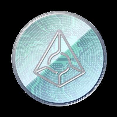 仮想通貨オーガーのフリー素材(アルミver)
