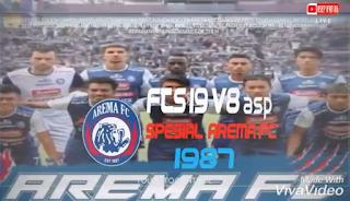FTS 19 V8asp Spesial AREMA FC Mod APK OBB+Data