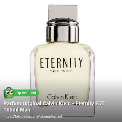 toko parfum asli parfum original calvin klein eternity edt 100ml man