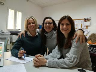 Miembros del EOEP Alburquerque. De izquierda a derecha Eva, Nazaret, Adela