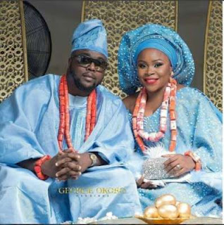 Omawumi and husband, Tosin Yusuf
