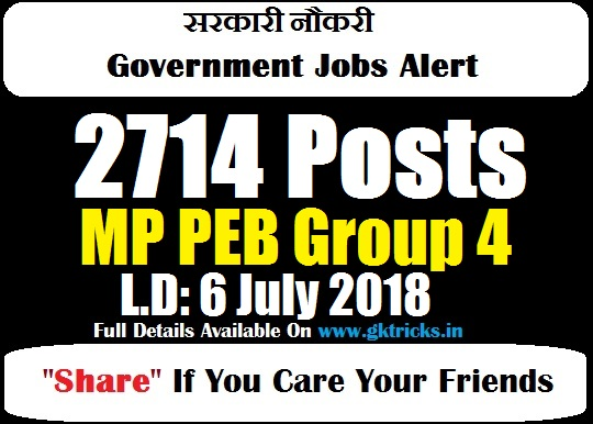 Vyapam Group 4 Jobs 2019 Watch Notification 2019 @peb mp gov in