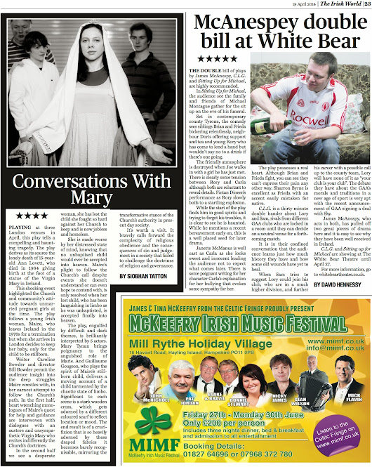 ★★★★★ Five star review in The Irish World!