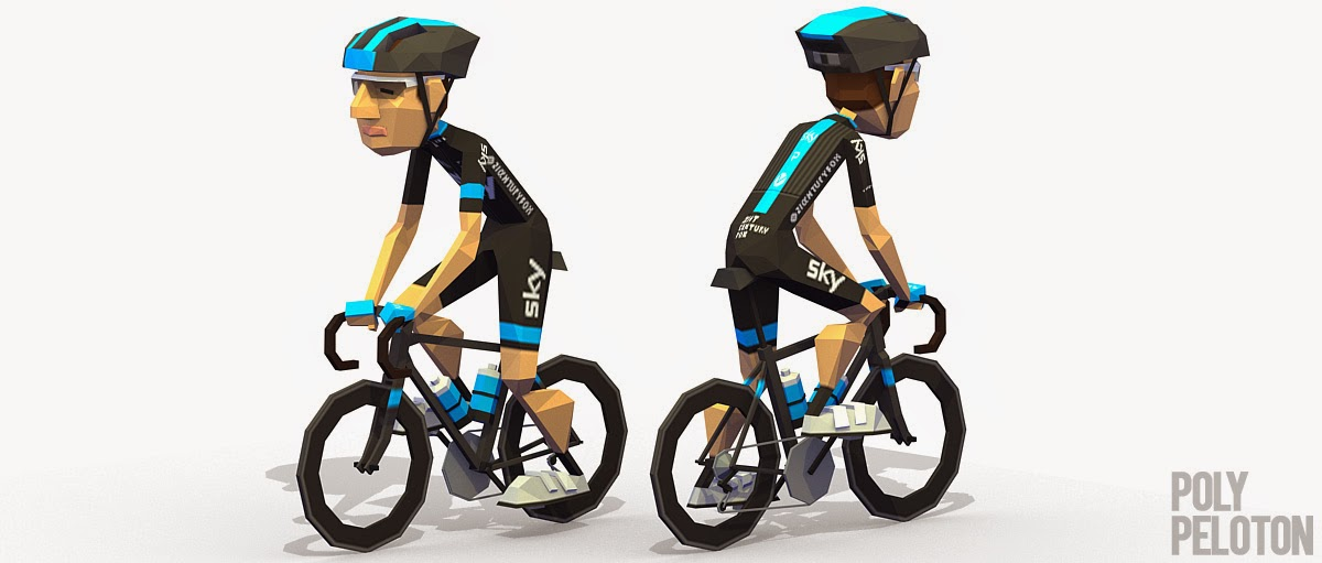 Poly Peloton  2015 Kit - Team Sky 21e75bab1