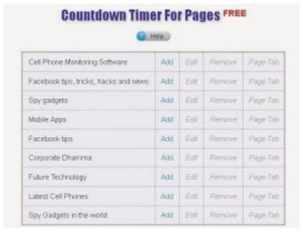 Countdown Clock Facebook - KOBE MONITOR