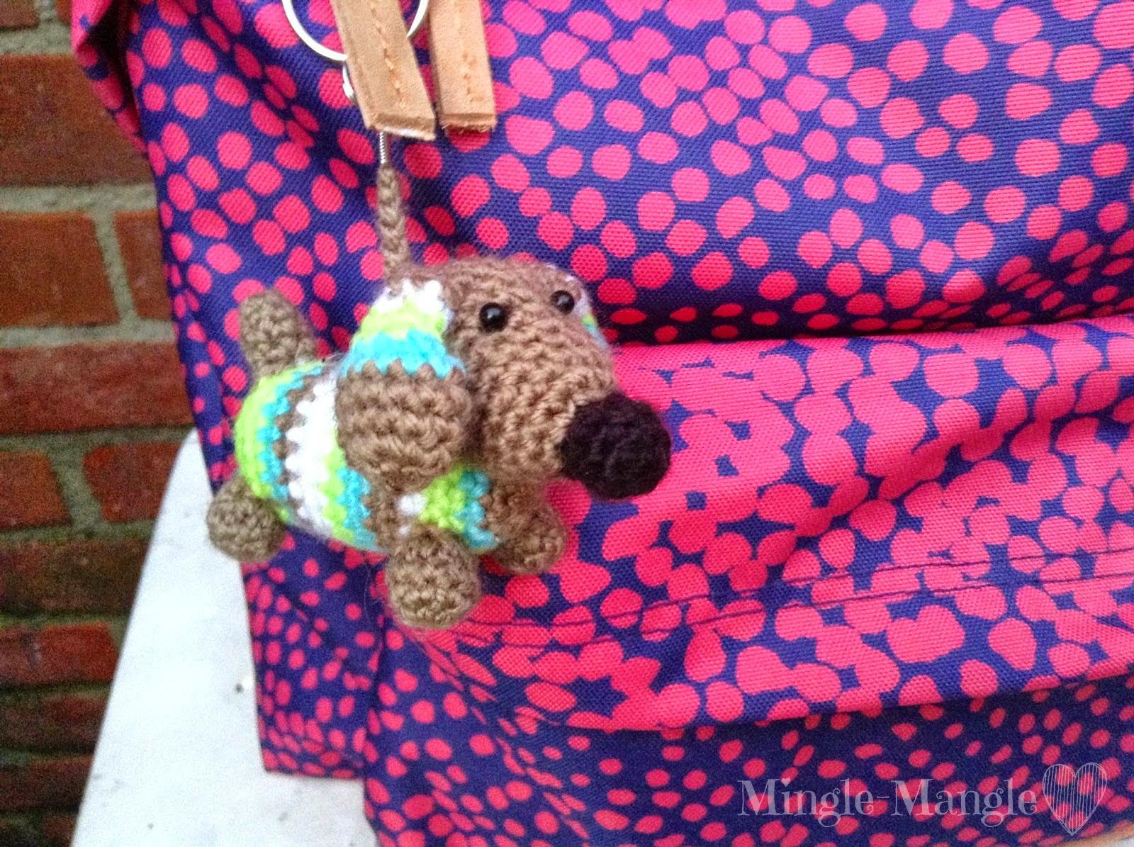 Mingle Mangle Crochet Back To School Sleutelhangers