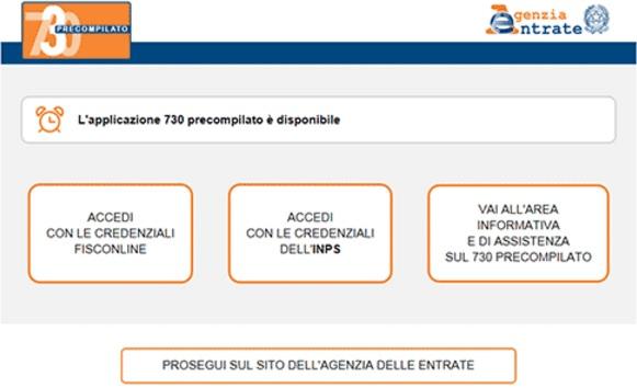 Modello 730 precompilato come accedere alla dichiarazione for Accesso agenzia entrate