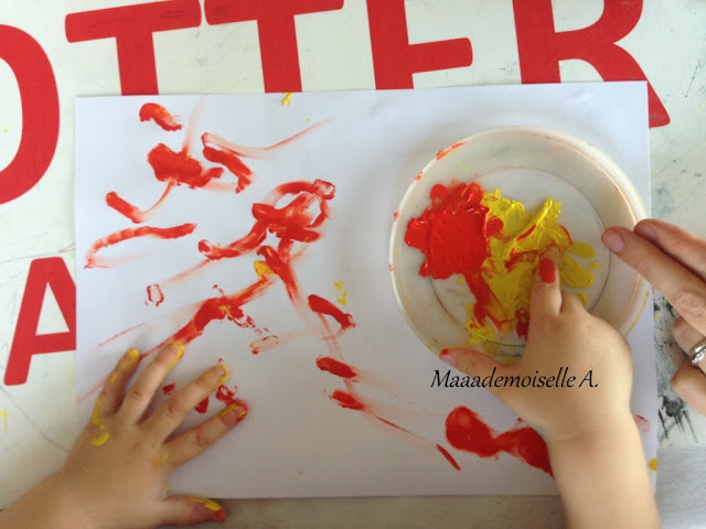    Activité : Peindre un ciel étoilé, avec des marrons (L'art est un jeu d'enfant # 9)