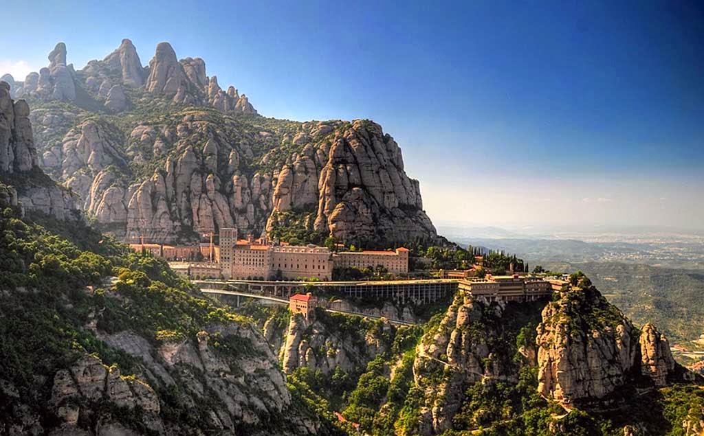 La montaña de Montserrat, Barcelona