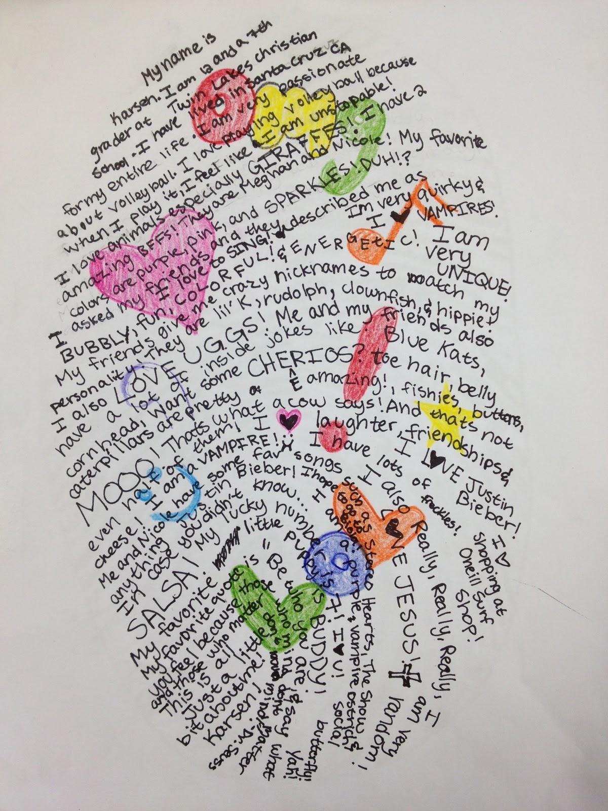 Thumbprint Self Portrait Teachkidsart