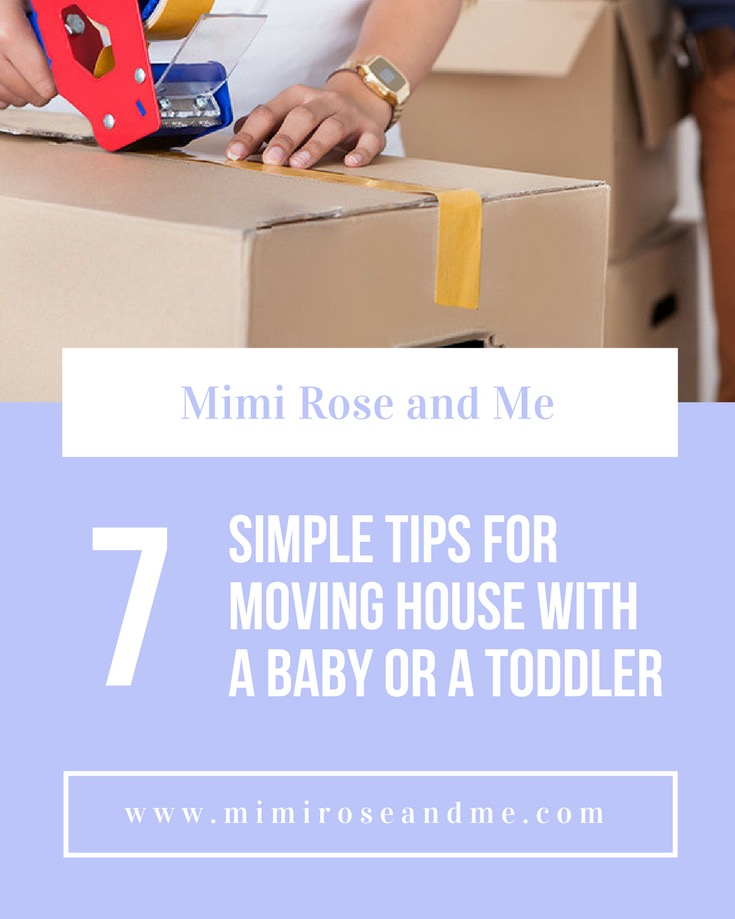 7 simple tips for moving house with a baby or a toddler for Minimalist moving house