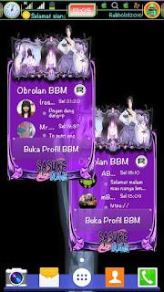 BBM Mod Sasuke Style V3.1.0.13 Apk