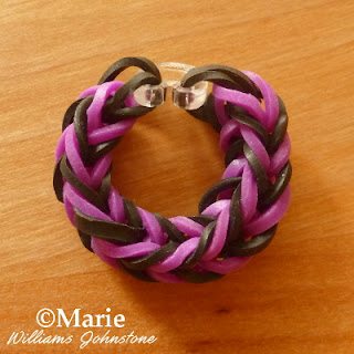 Beginner rubber bands bracelet pattern tutorial
