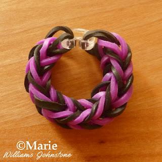 Beginner rubber bands bracelet pattern tutorial