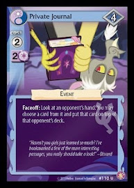 My Little Pony Private Journal Absolute Discord CCG Card