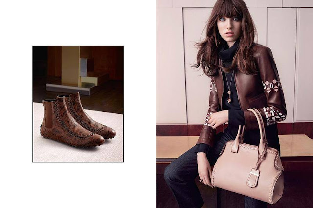 Tod's Fall/Winter 2015 Campaign featuring Grace Hartzel