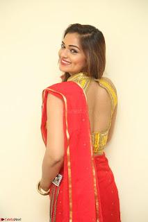 Actress Ashwini in Golden choli Red saree Spicy Pics ~  109.JPG