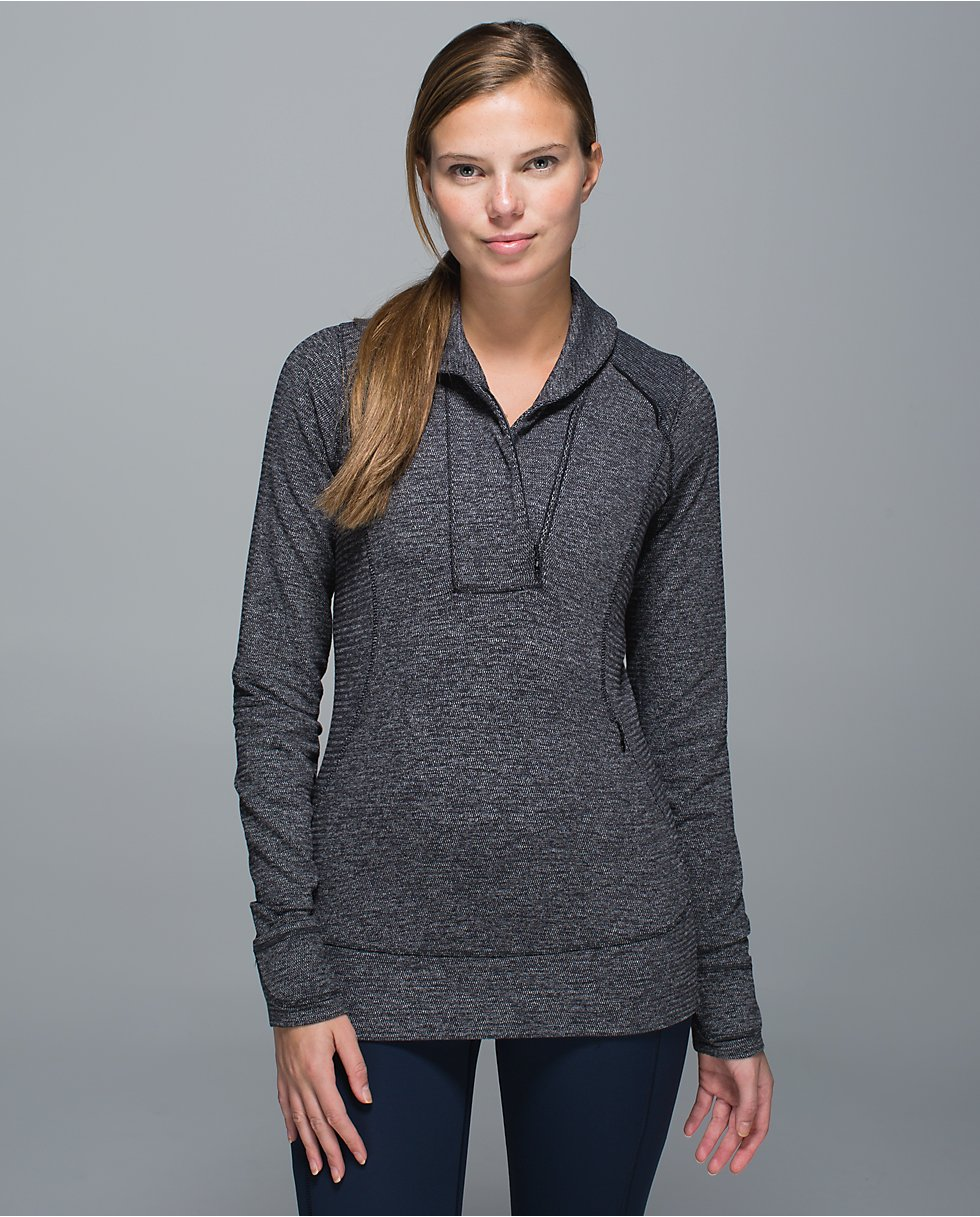lululemon mini check pique think fast pullvoer