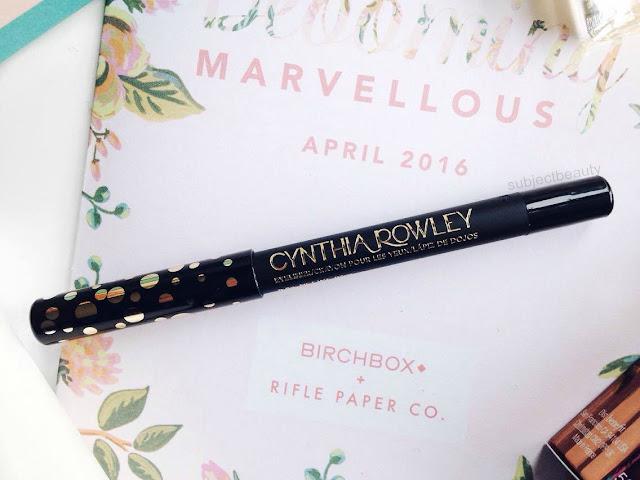 April Birchbox Cynthia Rowley Beauty Eyeliner in Black