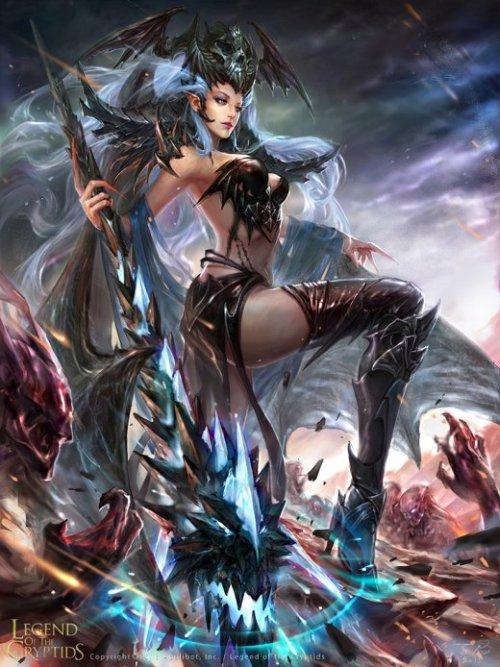 Zinna Du deviantart ilustrações fantasia games mulheres sensual beleza arte legend of the cryptids