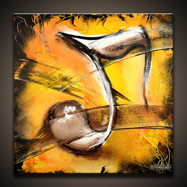 Music Note Abstract Acrylic Paintings