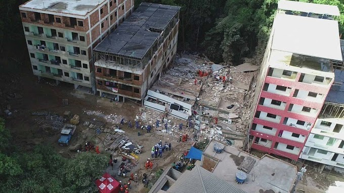 Corpos de duas crianças são encontrados sob escombros no Rio; mortos chega a 22