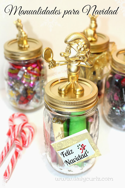 DIY Manualidades Navideñas en jarros mason