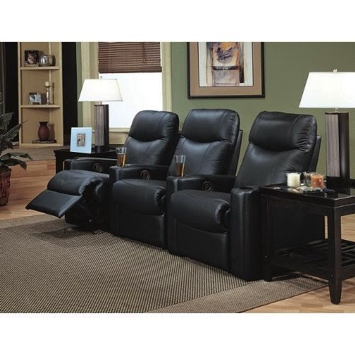 Inexpensive Couches For Sale: Reclining Sofas For Sale Cheap: Triple Reclining Sofa Leather