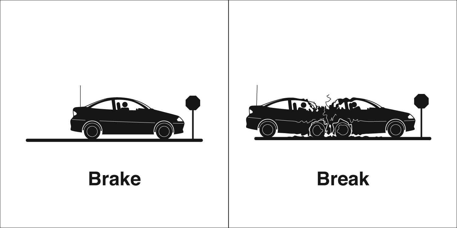 Homophones, Weakly: Brake & Break