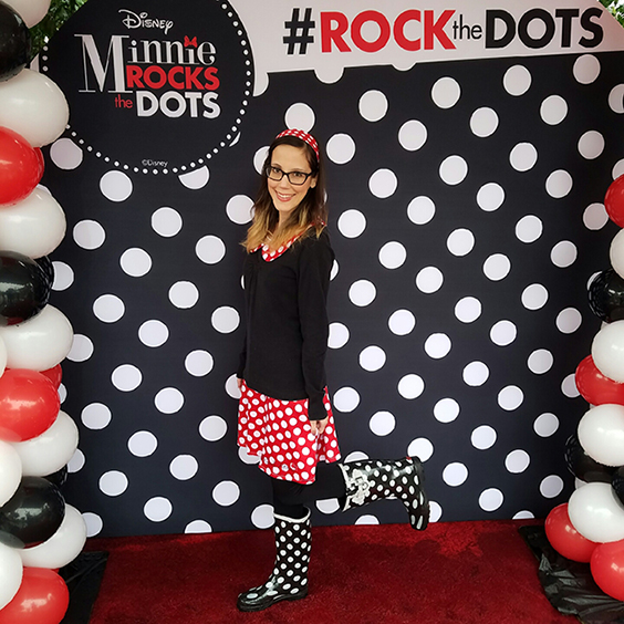 Rock the Dots at Downtown Disney 2017- Minnie Mouse inspired outfit