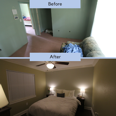 bedroom renovation, before and after, makeover