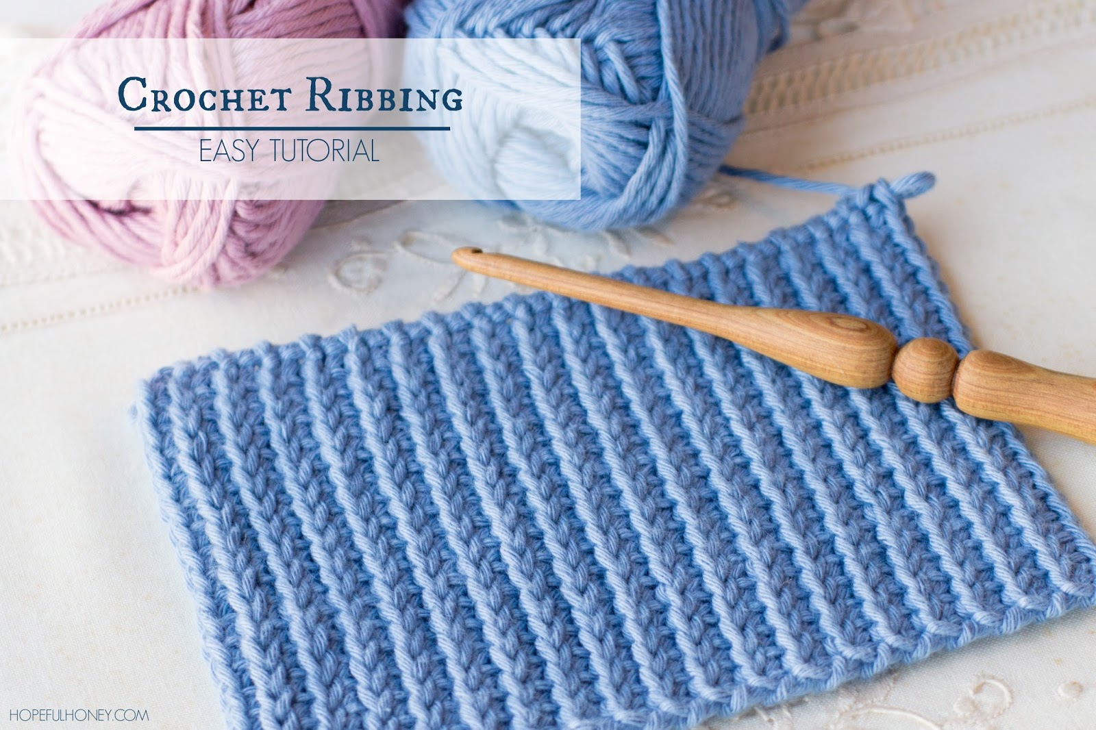 Crochet Ribbing : ... Craft, Crochet, Create: How To: Crochet A Ribbing - Easy Tutorial