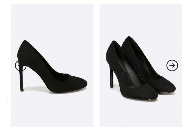 Pantofi piele intoarsa eleganti negri cu toc inalt de zi / de birou